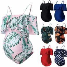 Plus Size, ruffle, high waist, women swimsuit