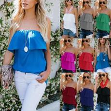blouse, Summer, strapless, Moda