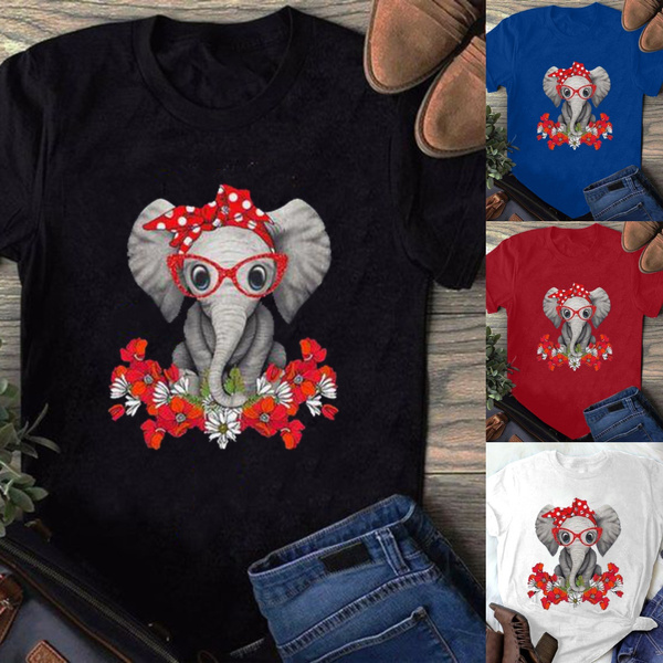 Summer, Plus Size, print shirt, Tops