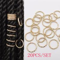 200pcs Hair Coil Dreadlocks Hair Braid Rings Dreadlocks Hair Braid Cuffs Beads Wish