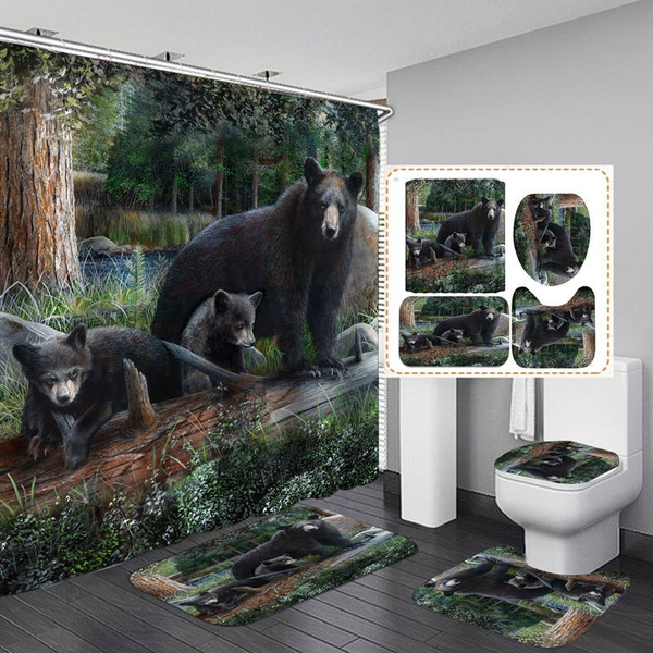 Art Print Shower Curtain Bath Mat