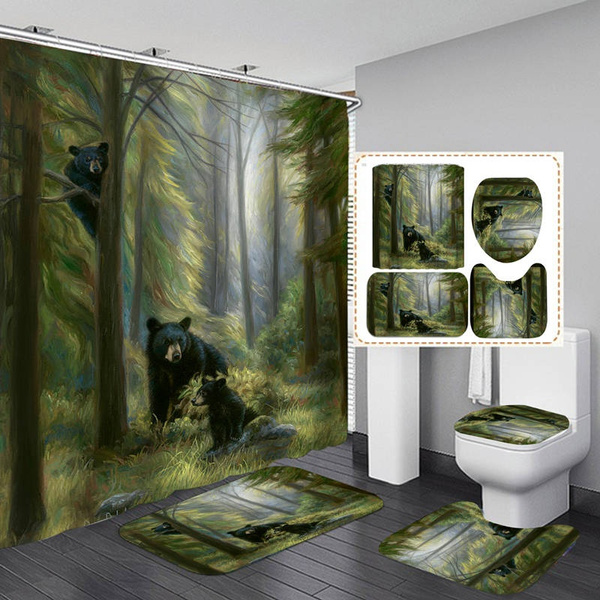Tree Climbing Art Print Shower Curtain