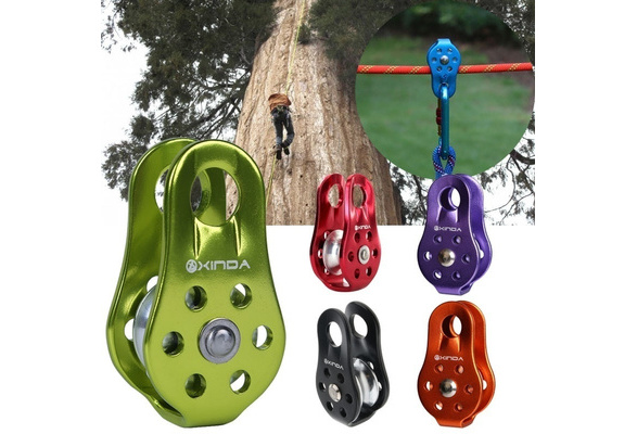 Mountaineering Rock Tree Climbing Rope Pulley Device 20KN Fixed Type Gear