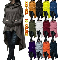 Bat, hooded, asymmetric, Coat