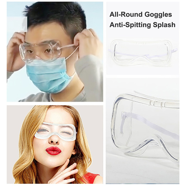 Safety Vented Goggles Glasses Eye Protection Protective Clear Lab Anti-Fog Dust