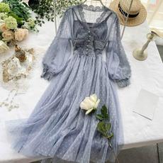 Women, GOTHIC DRESS, hollowoutdres, Lace