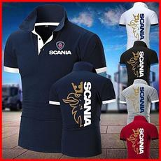 Stand Collar, Fashion, Cotton T Shirt, scania