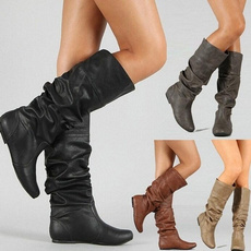 ankle boots, wedge, Plus Size, Winter