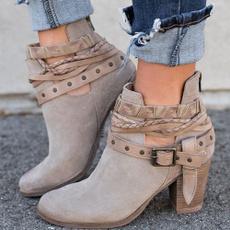 ankle boots, Plus Size, Vintage, Buckles