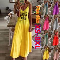 Summer, Fashion, Mini, plus size dress