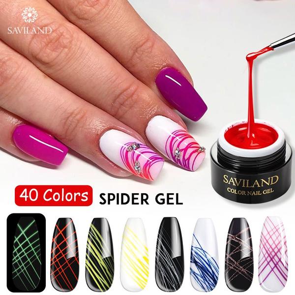 spidergel, nail decoration, silk, art