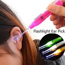 Flashlight, earwaxcleaner, earpick, Pincitas