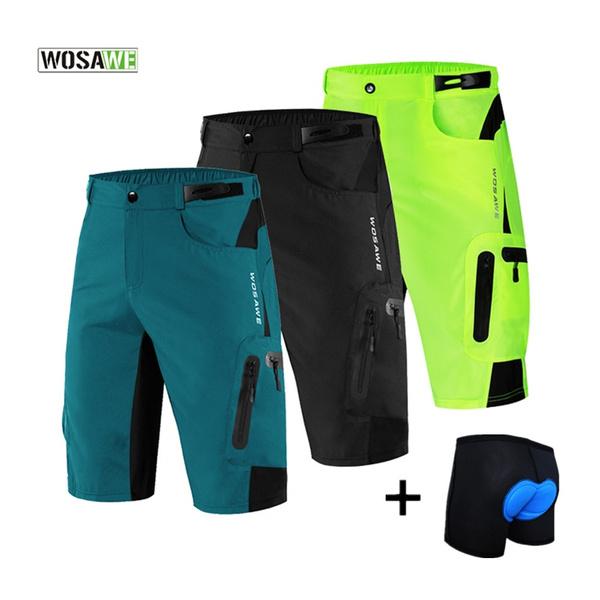 Cycling Baggy Shorts Mens MTB Mountain Bike Bicycle Casual Padded Short Pants