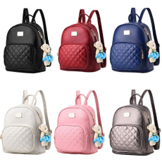 School, leather, school bags for girl, Backpacks