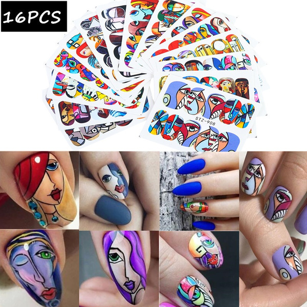 manicure, tattoo, nail decals, Butterflies
