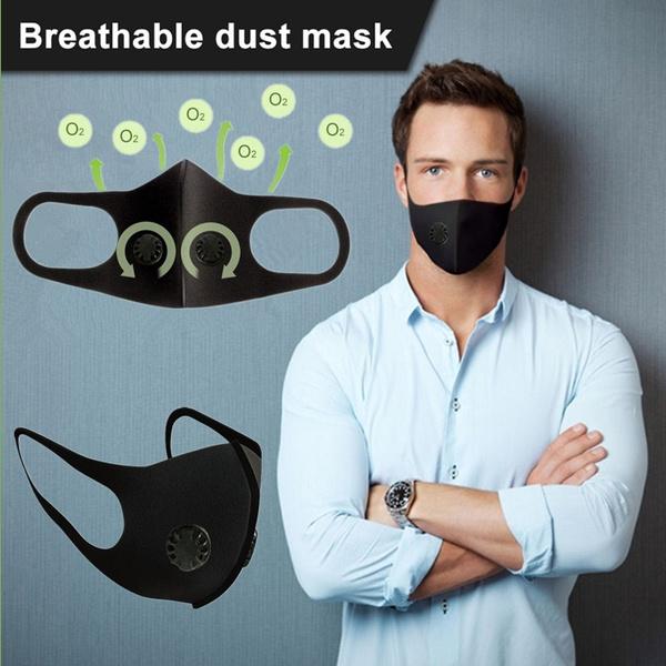 black, dustproofmask, blackmask, antifogmask