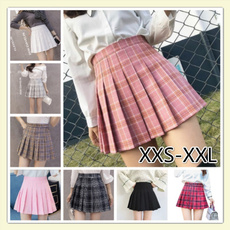 plaid, high waist, studentskirt, Sweets