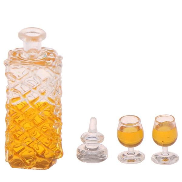 Dollhouse accessories miniature model props simulation wine bottle combination