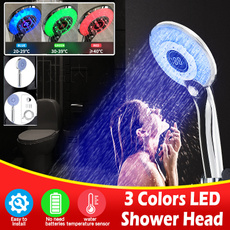 water, Head, digitaldisplay, ledshowerhead