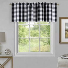farmhouse, plaid, Window, valance