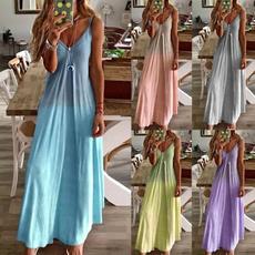 Deep V-Neck, Plus Size, halter dress, Halter
