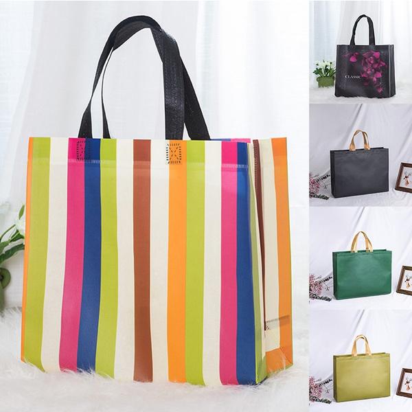 Large Capacity Reusable Non-Woven Fabric Eco Grocery Bag Shopping Bag Tote