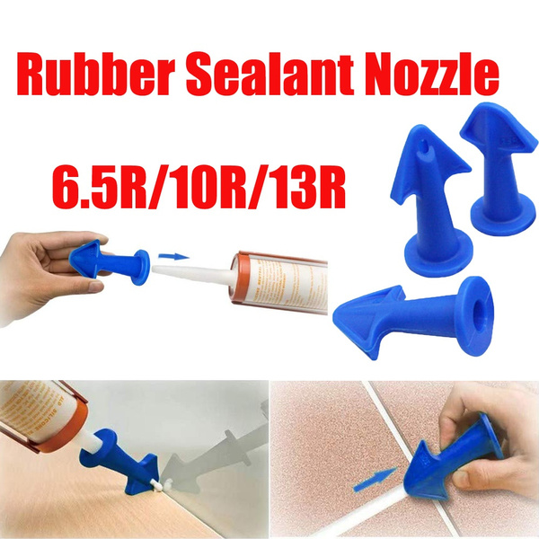 Blue 3Pcs Sealant Wiper for Fill in Cracks /& Remove Excess Filler Rubber Sealant Nozzle Plus Scrapers Set Trowel Nozzle Plus Silicone Caulking Tools for Tile or Brick Joints
