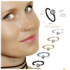 fakepiercing, DIAMOND, Jewelry, nosehoop