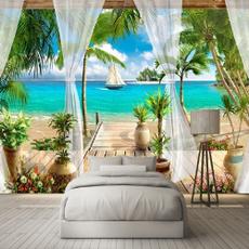 Decoración, roomdivider, art, walltapestry