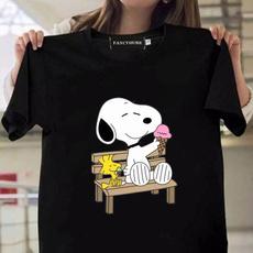 snoopyshirt, Cotton, summerfashiontshirt, roundnecktshirt