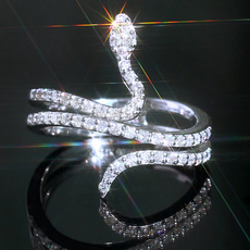 Sterling, crystal ring, Jewelry, Gifts