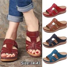 casual shoes, Summer, Flip Flops, Plus Size
