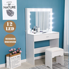 Beauty, cosmetictable, Desk, Storage