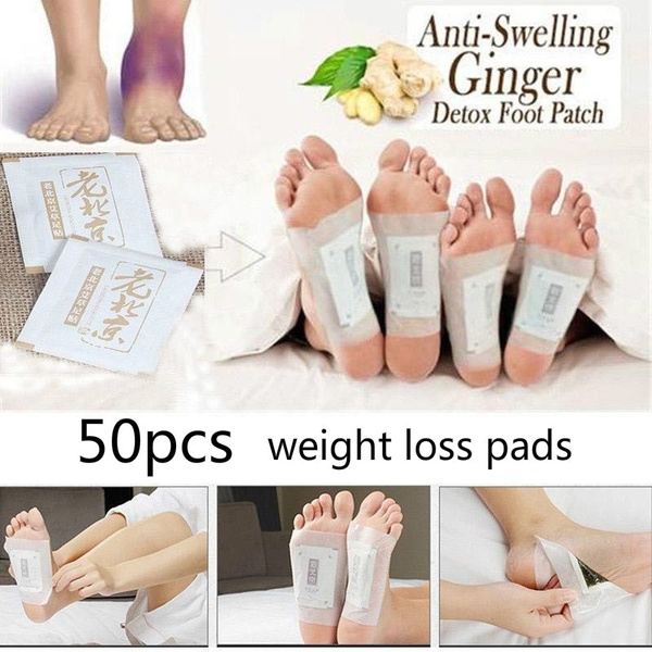 50pcs Premium Ginger Detox Foot Pads Weight Loss Organic Herbal Cleansing Detox Pads Pure Herbal Medicine Products Have No Side Effects Wish