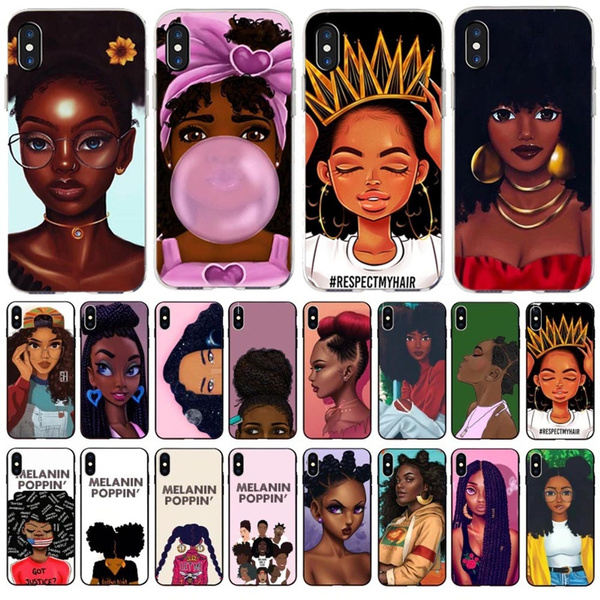 Fashion New Personalized Melanin Poppin Black Girl Phone Case For