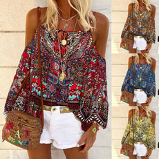 blouse, Plus Size, Floral print, Shirt