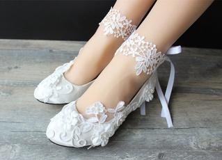 laceweddingshoe, Ivory, Bridal, Lace