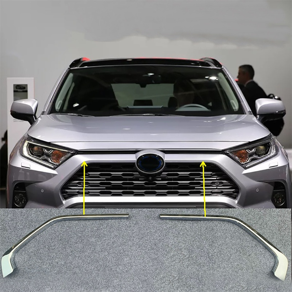 Chromed Car Front Grill Grille Decorative Cover Trim Strips For Toyota Rav4 2019 2020 Car Styling Decals Wish