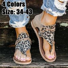 Summer, Flip Flops, Sandalias, animal print