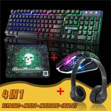Headset, gamingkeyboard, led, gamingheadset