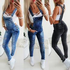 Fashion, jumpsuitromper, Women jeans, Denim