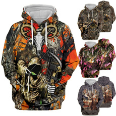 3D hoodies, hooded, Hunting, Hunter