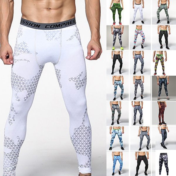 Men S Running Camo Compression Leggings Base Layer Fitness Jogging Trousers Tights Sport Training Gym Wear Pants Wish