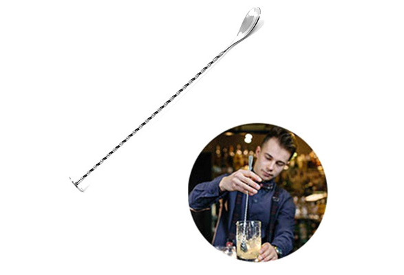 Cocktail Drink Mixer Stainless Steel Twisted Bartenders Bar Spoon Stirrer