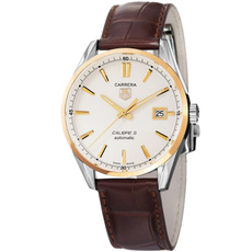 brown, dial, Jewelry, leather strap