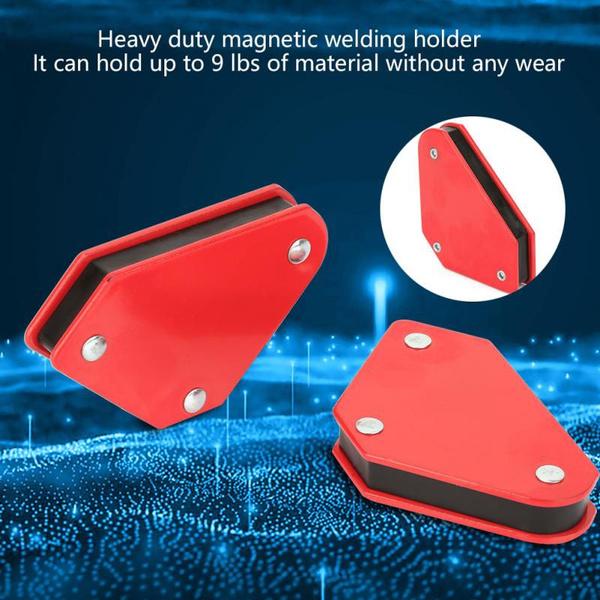 SH-RuiDu 4pcs Durable 9LB Angle Soldering Locator Magnetic Magnet Corner Arrows Welder Welding Holder Tool