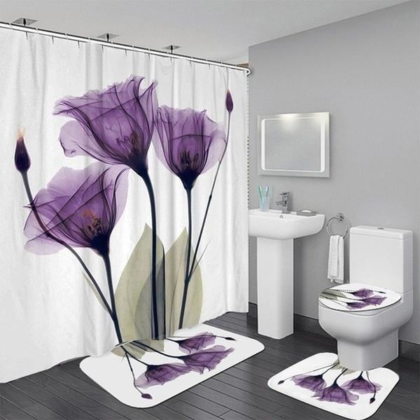 Flower Tulips Lavender Shower Curtain