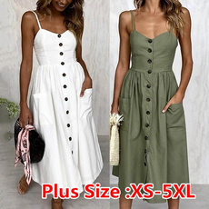 Summer, Plus Size, sundress, fashion dress