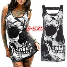 Mini, skulldresse, Fashion, skull