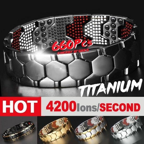 Steel, magneticmassager, healthbracelet, Jewelry
